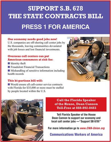 Call Center Bill Flyer