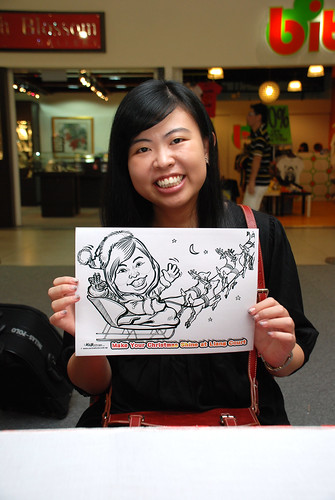 "caricature live sketching for ""Make Your Christmas Shine at Liang Court"" - 5"