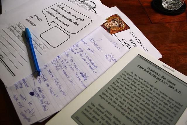 justinian notebooking homeschool