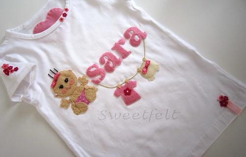 ♥♥♥ Para a Sara, a maior coleccionadora de t-shirts Sweetfelt :)) by sweetfelt \ ideias em feltro