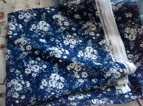 Blue floral cotton