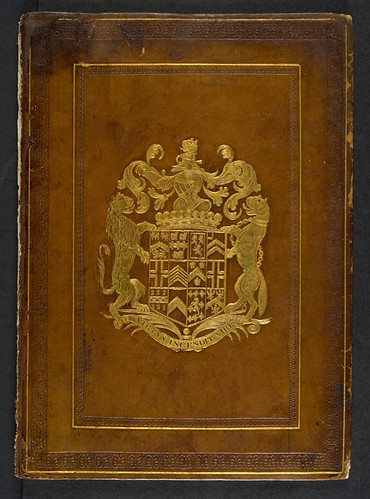 Armorial stamped binding of Michael Scotus: Liber physiognomiae