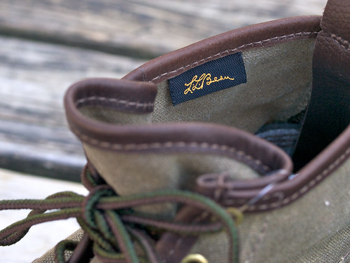 "L.L.Bean Signature / Waxed Canvas 6"" Maine Hunting Shoe"