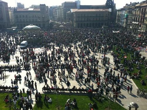 Gaztelu plaza, manifa hasi baino lehen