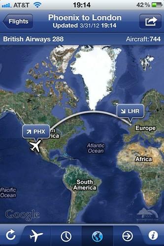Phoenix to London