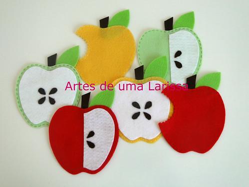 Coasters Maçãs by Artes de uma Larissa