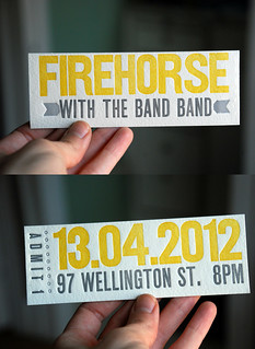 Letterpress Firehorse tickets