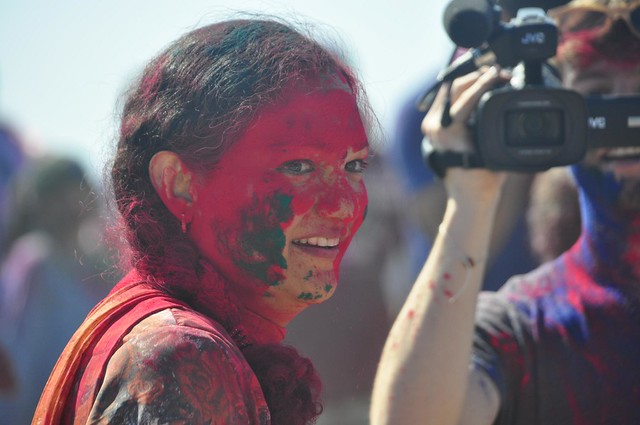 Maya Jafer at Holi