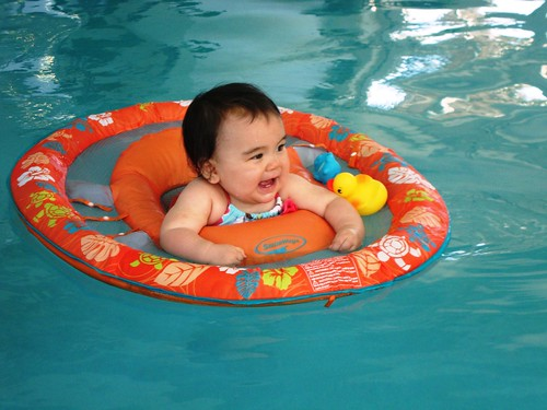 First Time in a Pool!