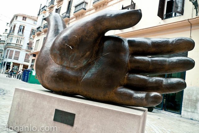 Sculpture in Malaga, Spain