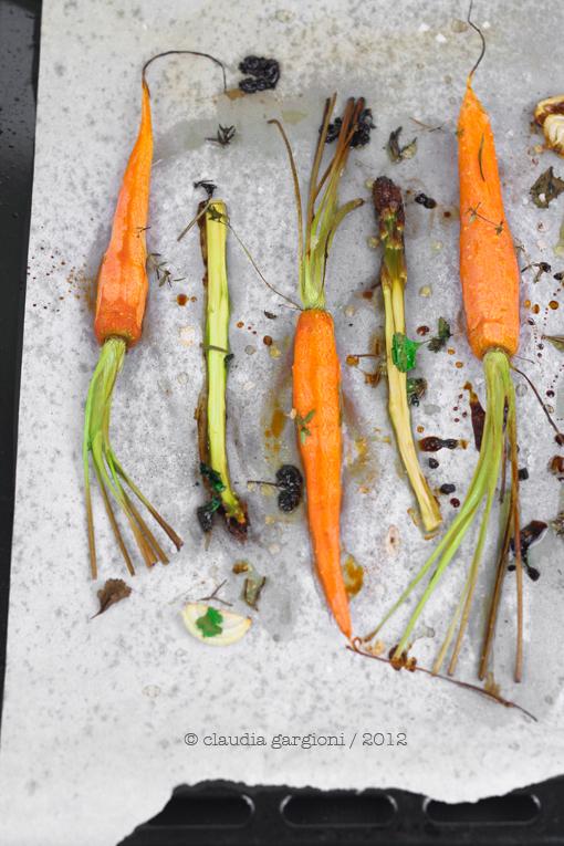 Carote e asparagi arrosto
