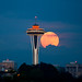 """Supermoon"" over Seattle"