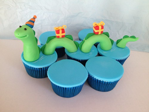 Birthday Loch Ness Cupcakes