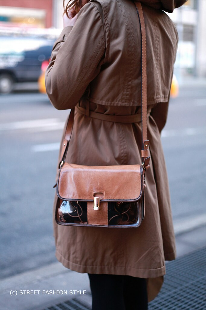 look through purse, knee length trench coat, new york streetstyle fashion blog, STREETFASHIONSTYLE, street fashion style,