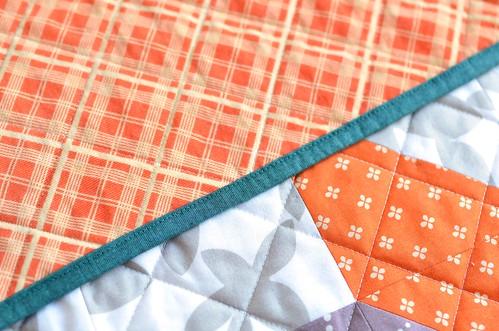 lemoyne star baby quilt binding
