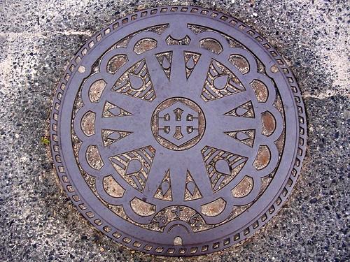 Kosei Shiga, manhole cover (滋賀県甲西町のマンホール)