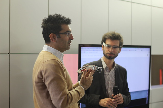 Kayvan Mirza (Optinvent) et Guillaume Plouin (OCTO Technology)