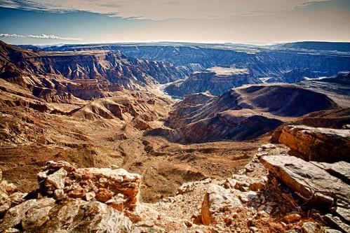 africa landscape desert canyon namibia