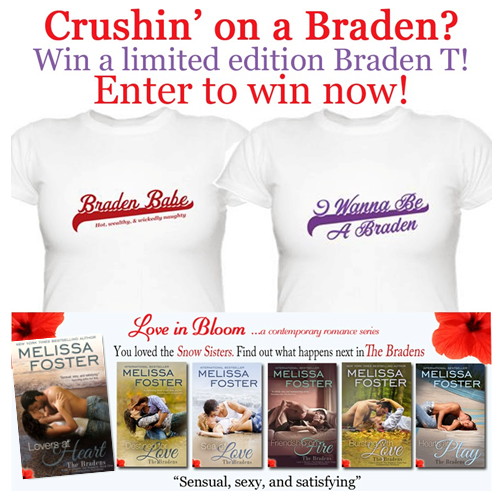 Romance Book Lovers – T Shirt Giveaway! Melissa Foster Ends May 4