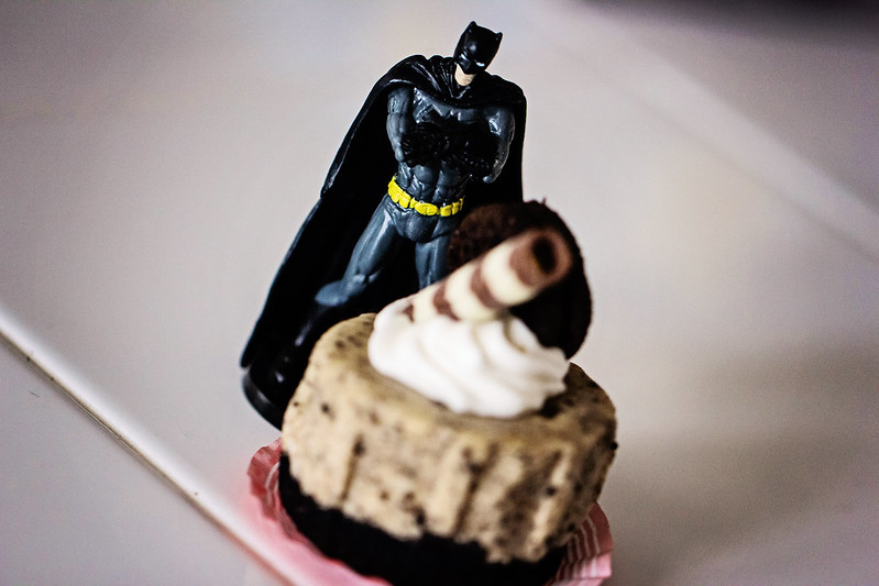 Batman is Unimpressed by Cake