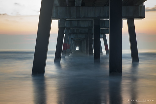 sunrise pier long exposure jacksonville