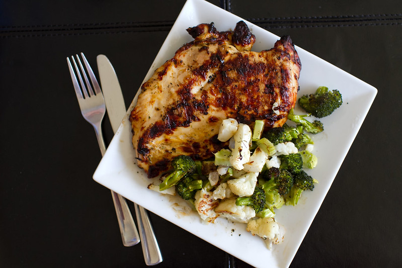 Grilled Chicken with Roasted Veggies