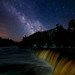 Milky Way at Tahquamenon Falls by Michigan Nut