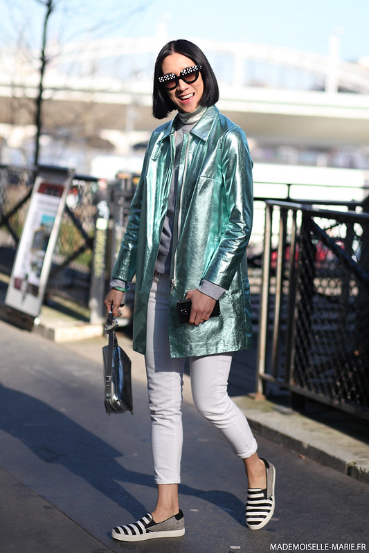 Eva Chen at Paris fashion week