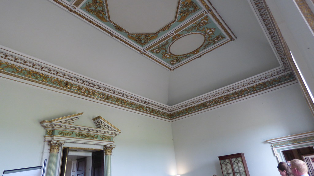 Ornate plasterwork and ceiling at Croome Court | Croome Cour