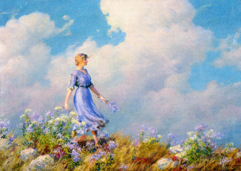 The Hilltop Walk by Charles Courtney Curran - 1927