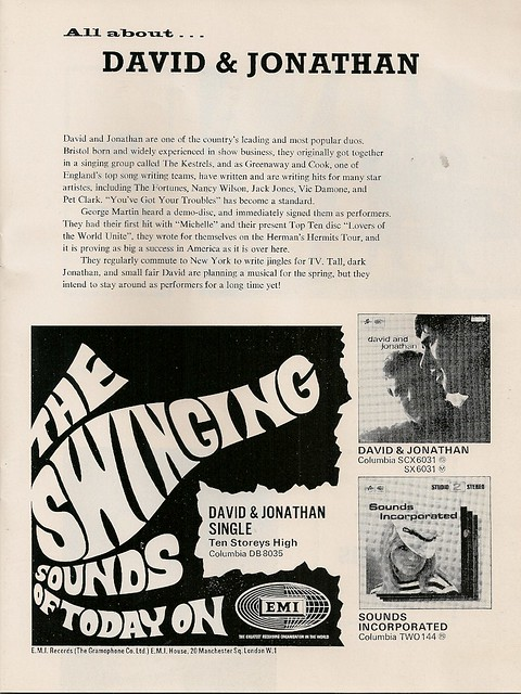 12 - David & Jonathan (text) - Advert - Columbia Records