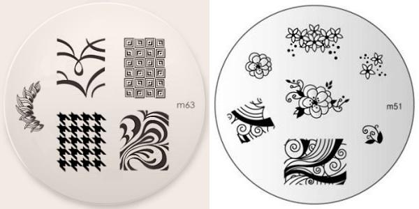 Konad nail stamping plates