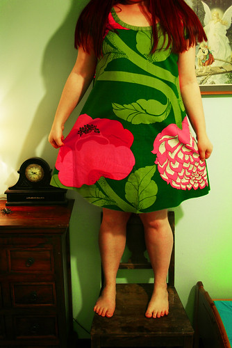 Retro flower dress
