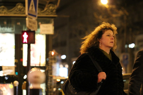 Woman on Street, Paris, February 2012