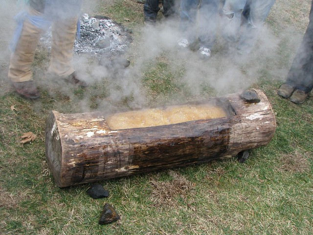 Stone Age Maple Sugar Production Demo