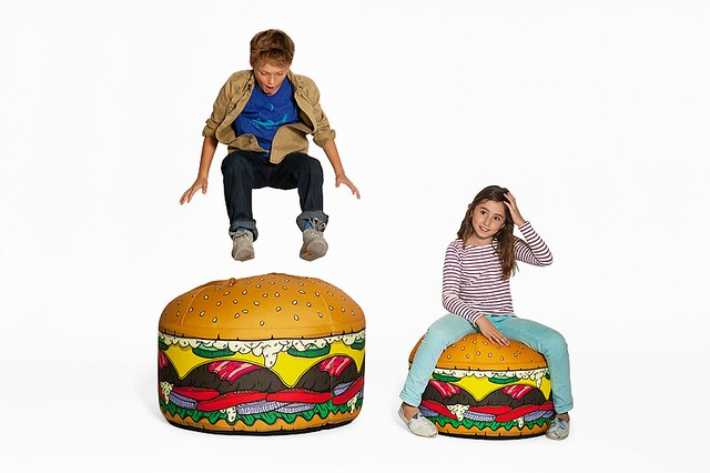 Strange Burger A Hamburger Shaped Bean Bag Chair Gmtry Best Dining Table And Chair Ideas Images Gmtryco