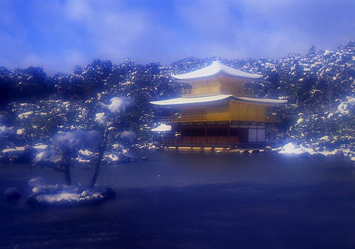 Kinkaku-ji in Winter:金閣寺