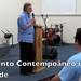 Pr. Carlos Alberto Bezzera discursando sobre a Cruz como base da santificação