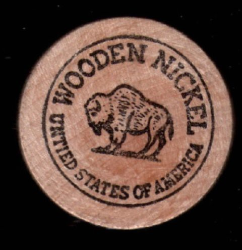 Suffolk Downs 1975 Wooden Nickel
