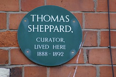 Photo of Thomas Sheppard green plaque