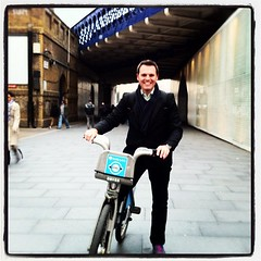 Had an awesome cycle along the South bank of the Thames on a Boris Bike! Love it! by digitaldion