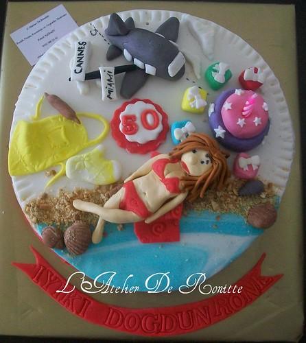 50 yaş temalı pasta by l'atelier de ronitte