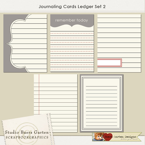 Journaling Cards Ledger Set 2
