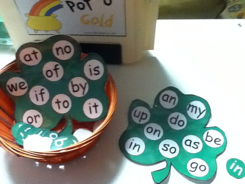 Shamrock Sight-Word Matching (Photo from A Bohemian Education)