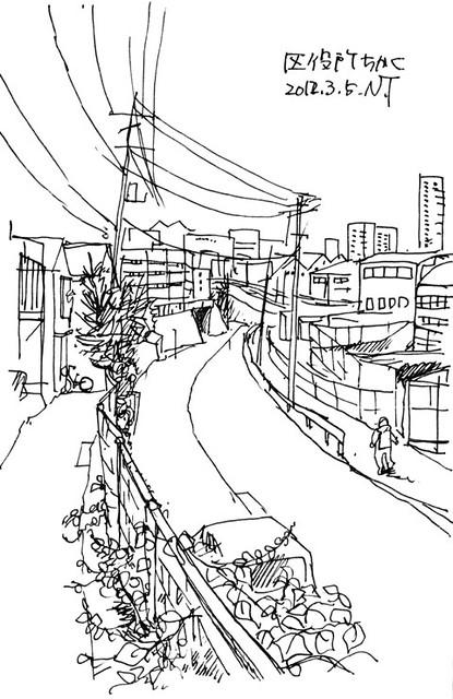 品川区役所近く near the Shinagawa Ward Office