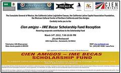 Convocatoria 2012 Cien Amigos – IME Becas Scholarship Fund Reception