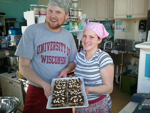 Ryan and Jessica with Black & White Bars from Bloom Bake Shop by wendysoucie