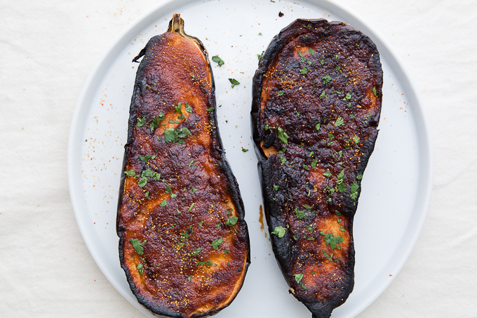 Roasted Eggplant with Miso Lime Dressing » The Year In Food