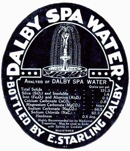 Dalby Spa Water label