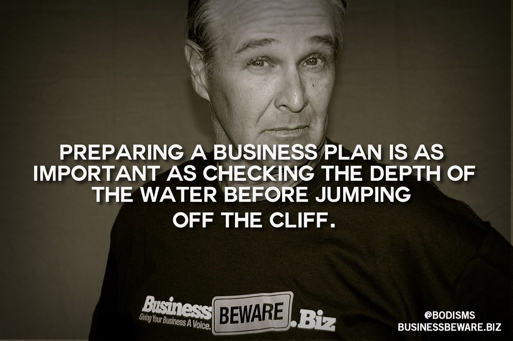 A good business plan.